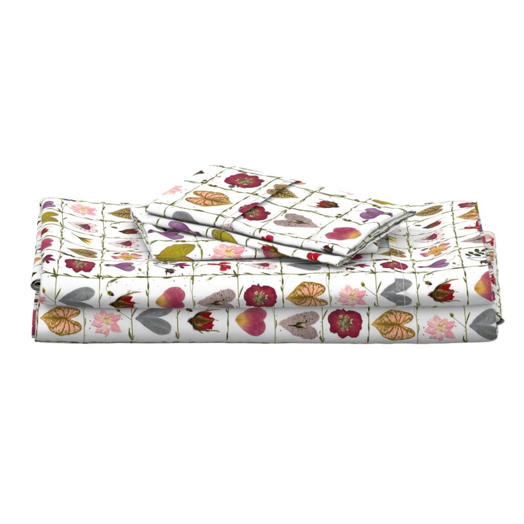 Langshan Full Bed Set featuring Valentine Garden by mypetalpress
