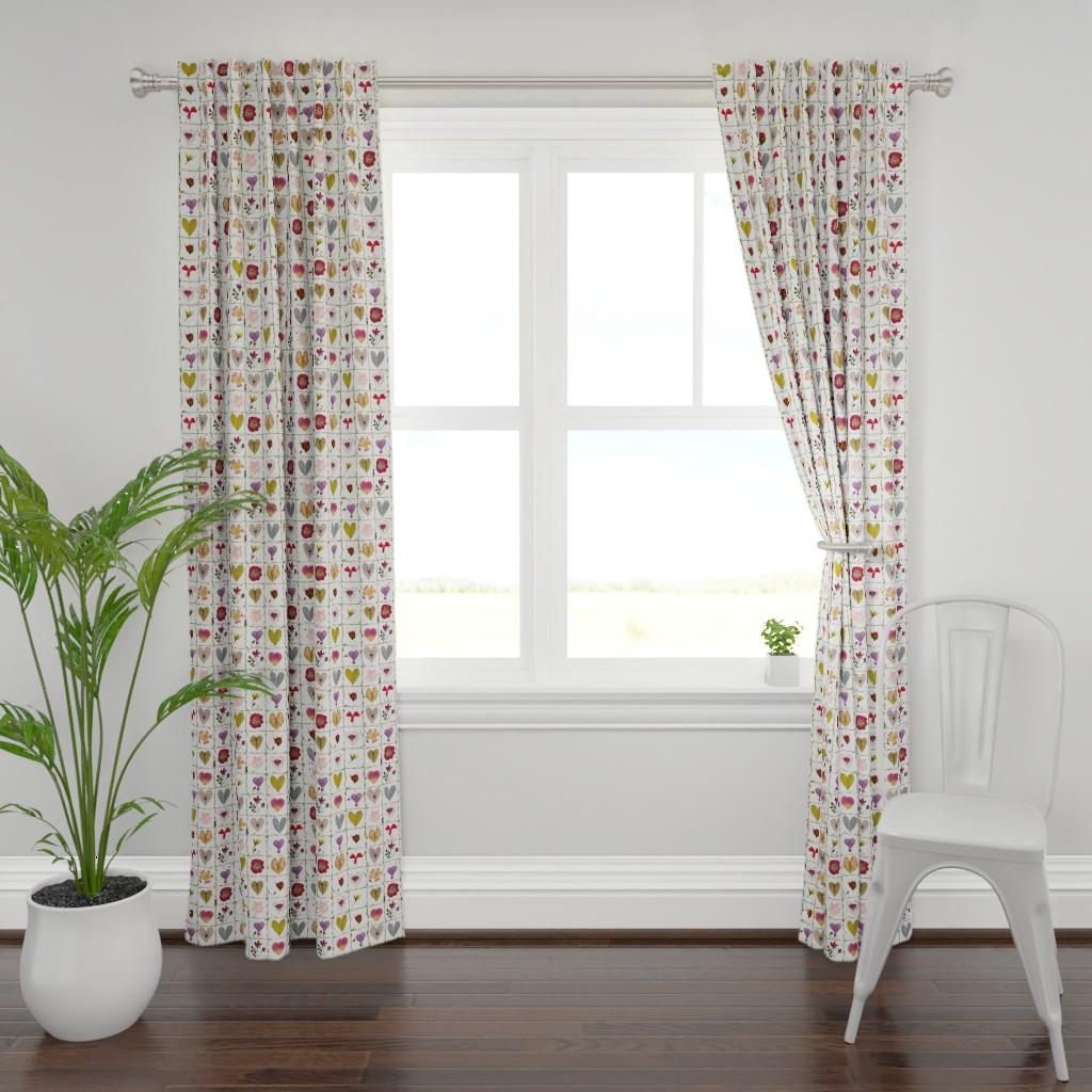 Plymouth Curtain Panel featuring Valentine Garden by mypetalpress