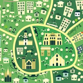 seamless map of milan