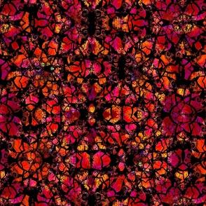 Cracked Fractal Purple & Orange