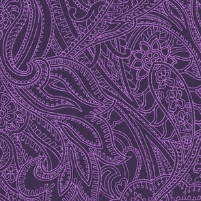 Purple Prince Paisley