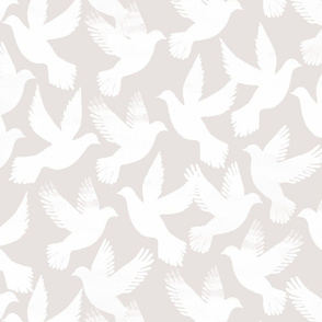 doves on grey
