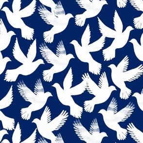 doves blue bg