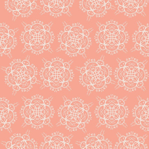 Wicker Floral on Coral