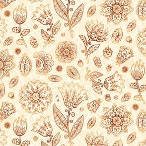 Indian flowers pattern