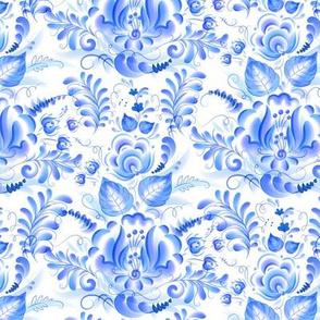 Gzhel floral pattern