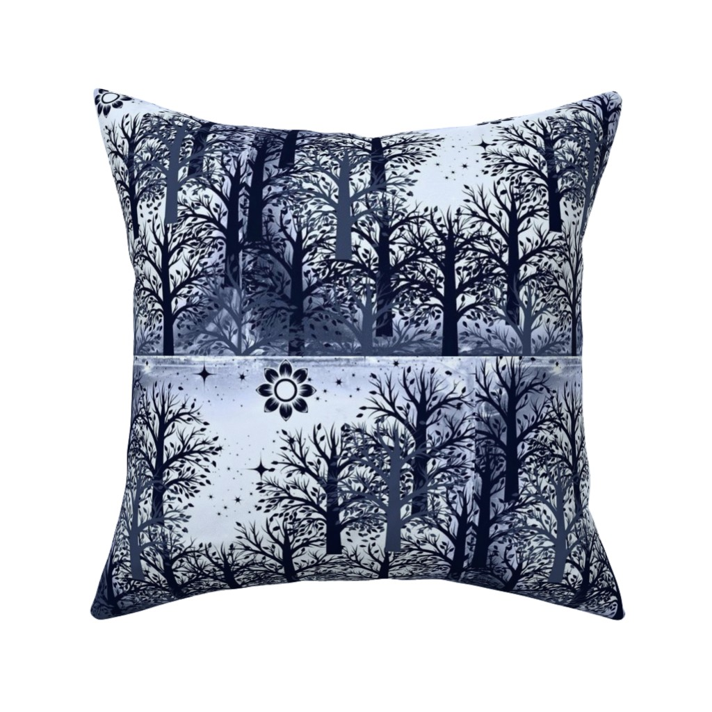 Catalan Throw Pillow featuring Gray Forest by winterblossom