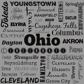 Ohio cities, standard gray