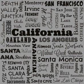 Cities of California, standard gray