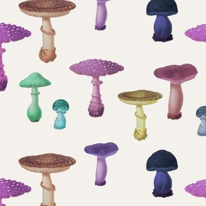 Vintage Mushroom Party - Light