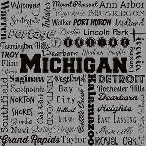 Michigan cities,  standard gray