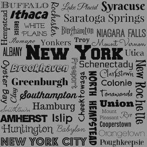 New York cities, std gray