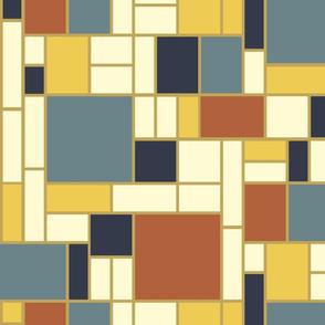 Mondrian in bayeux hues