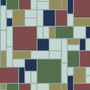 Mondrian in Heriz rug hues