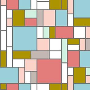 Mondrian in trendy hues I