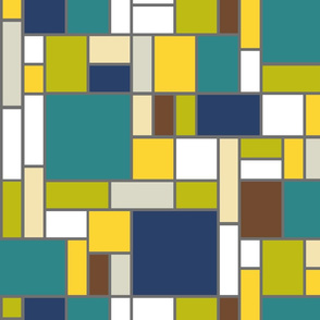 Mondrian in trendy hues II