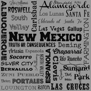 New Mexico cities, standard gray
