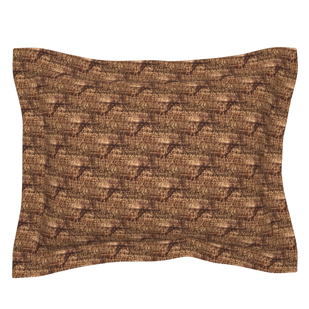 Sebright Pillow Sham featuring Sgraffito Shadow | Seamless Photo Texture by lochnestfarm
