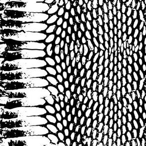 snake print scales texture black white
