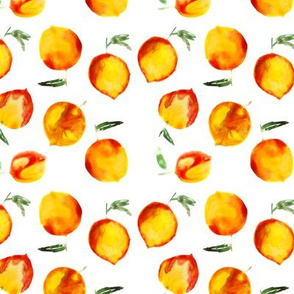 Sweet peach • watercolor fruit pattern