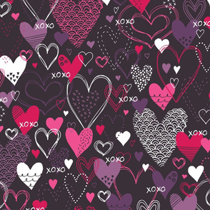 Hearts and Kisses (Dark)