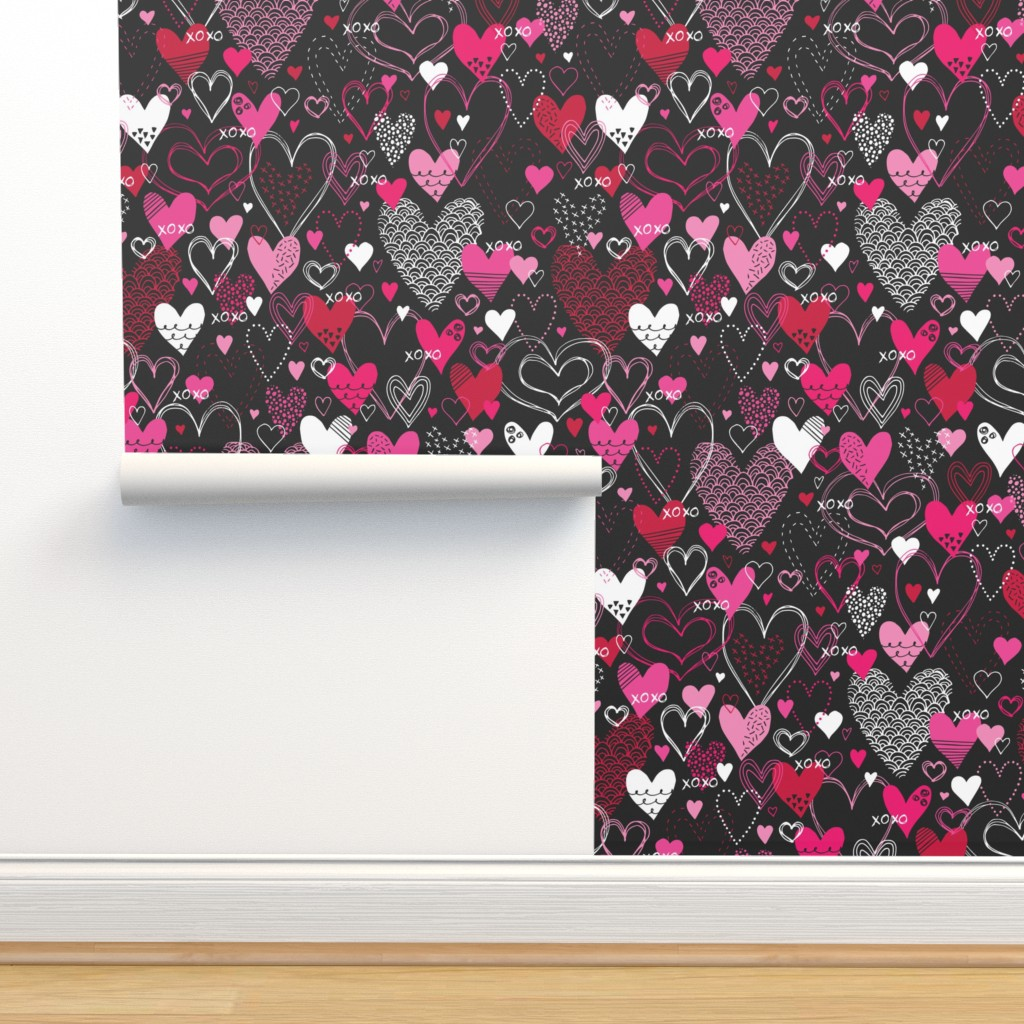 Isobar Durable Wallpaper featuring Hearts and Kisses by robyriker