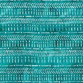Tribal Geometric Teal