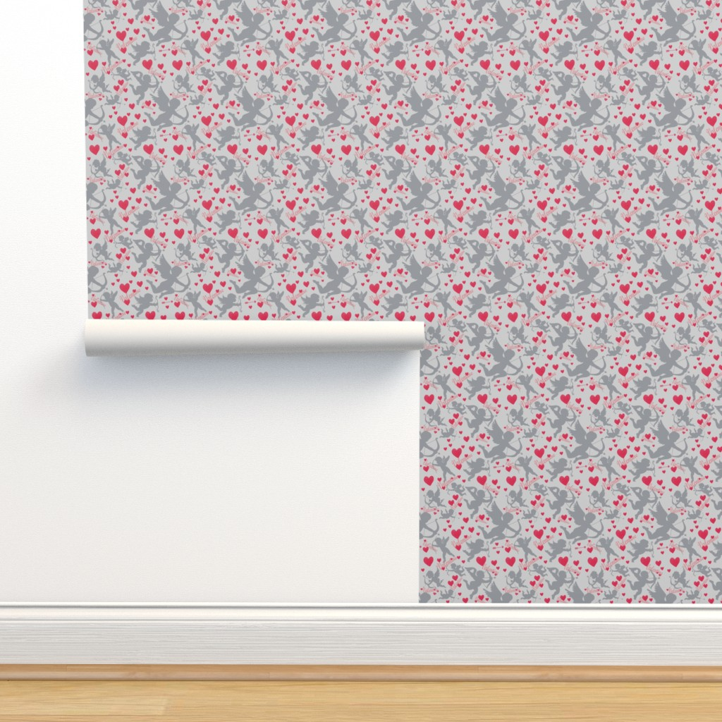 Isobar Durable Wallpaper featuring Cupids Red Arrow by artonfabric