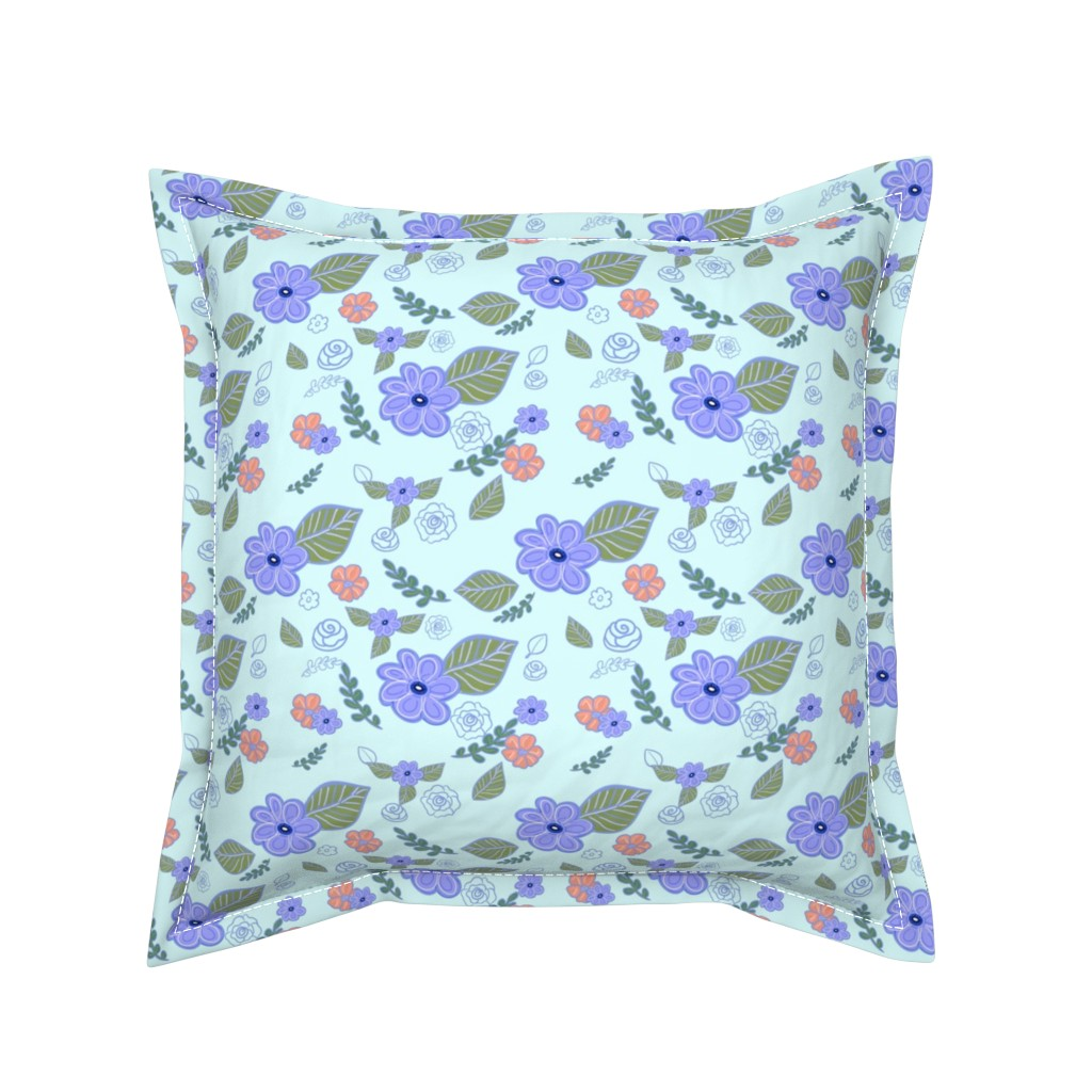 Serama Throw Pillow featuring Flower Migration by teawithxanthe