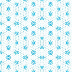 Pure Blue Snowflake Pattern