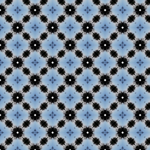 Blue and Black Vintage Style Pattern