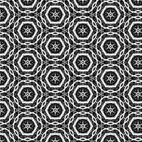 Black and White Octagon Pattern