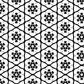White and Black Snowflake Pattern