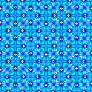 Brilliant Blue Cross Pattern
