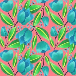 Bright Parrot Tulips