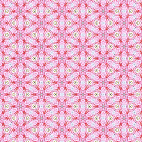 Pink Spoke Star Pattern