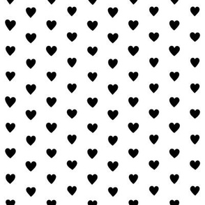 Small Black and White Polka Dots Hearts