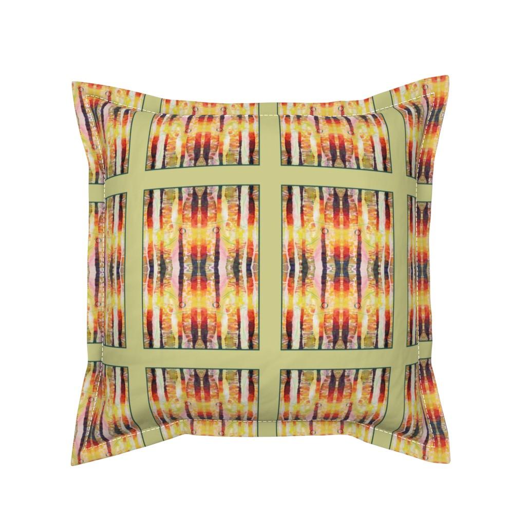 Serama Throw Pillow featuring Shaft of Light (quilt) by lynda_hoffman-snodgrass_