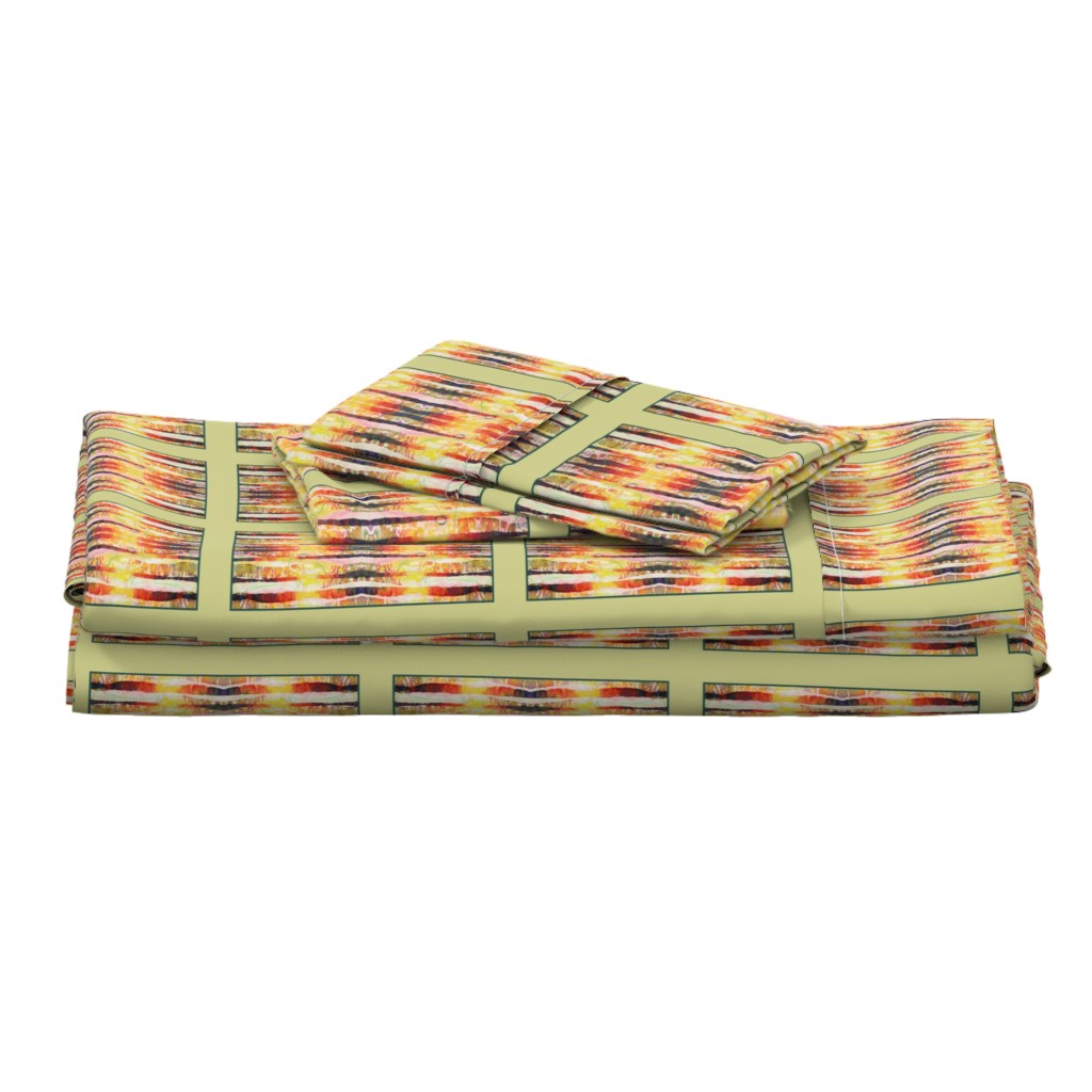 Langshan Full Bed Set featuring Shaft of Light (quilt) by lynda_hoffman-snodgrass_
