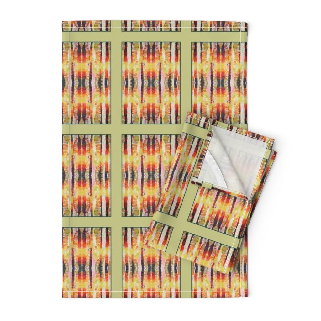 Orpington Tea Towels featuring Shaft of Light (quilt) by lynda_hoffman-snodgrass_