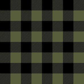 Buffalo Plaid - Green and Black C18BS