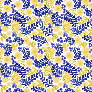 Blueberry Lemonade | Watercolor