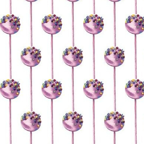 Lollipop watercolor pattern