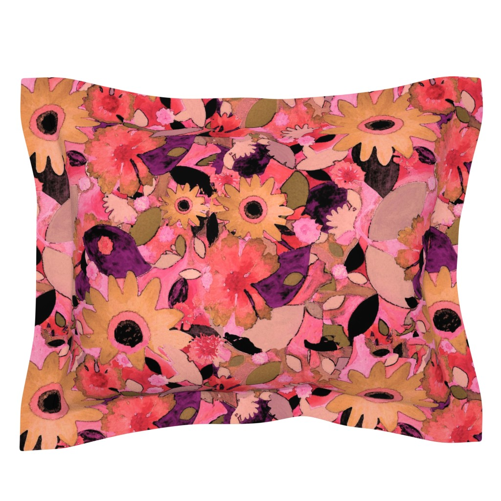 Sebright Pillow Sham featuring say it with flowers!   by marigoldpink