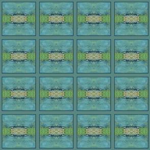 Formal Garden Blue (quilt)