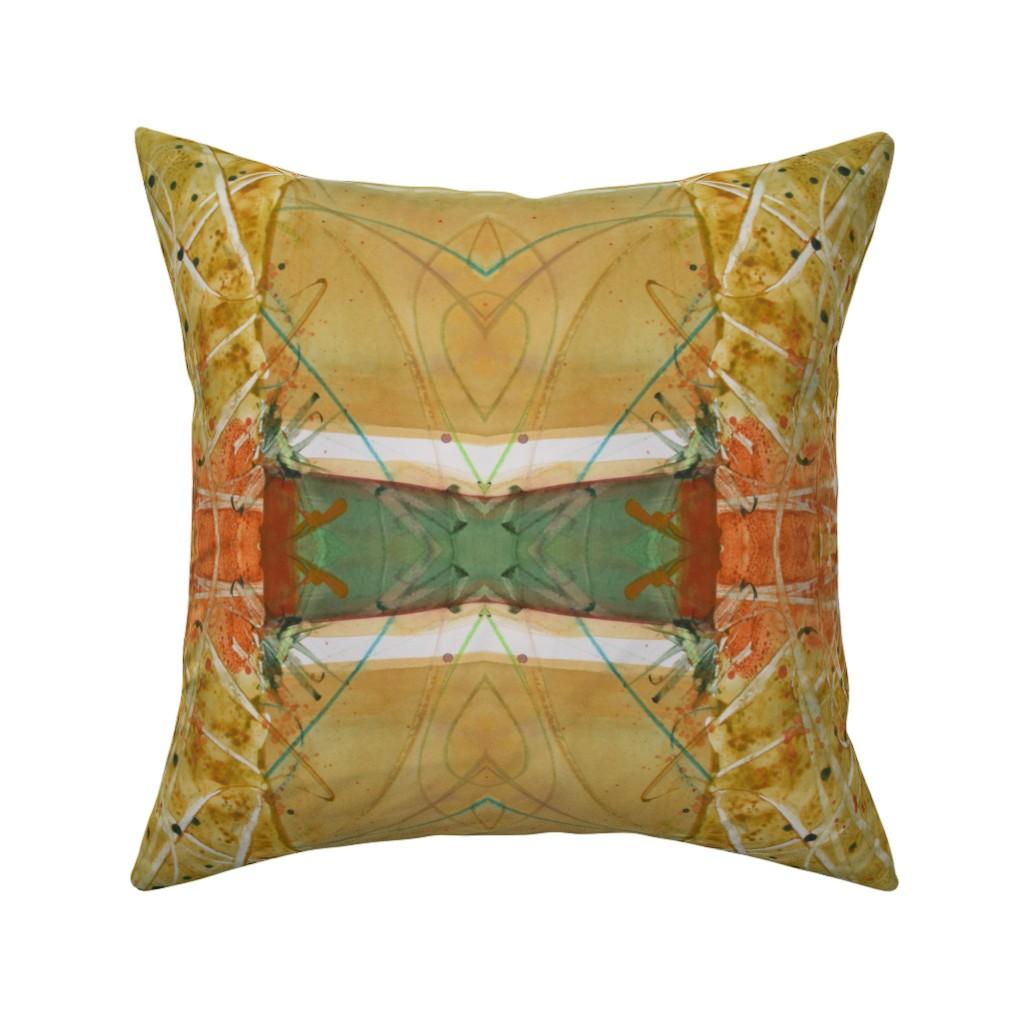 Catalan Throw Pillow featuring Formal Garden Golden (large) by lynda_hoffman-snodgrass_
