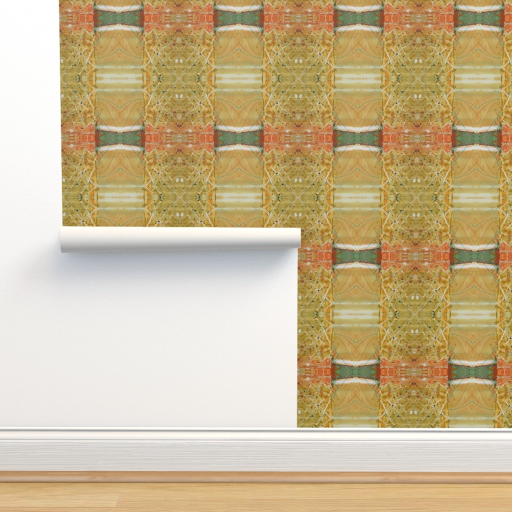 Isobar Durable Wallpaper featuring Formal Garden Golden (large) by lynda_hoffman-snodgrass_