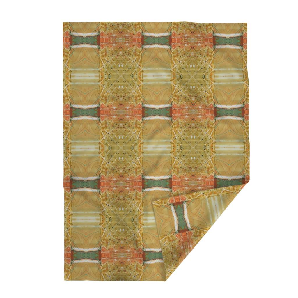 Lakenvelder Throw Blanket featuring Formal Garden Golden (large) by lynda_hoffman-snodgrass_