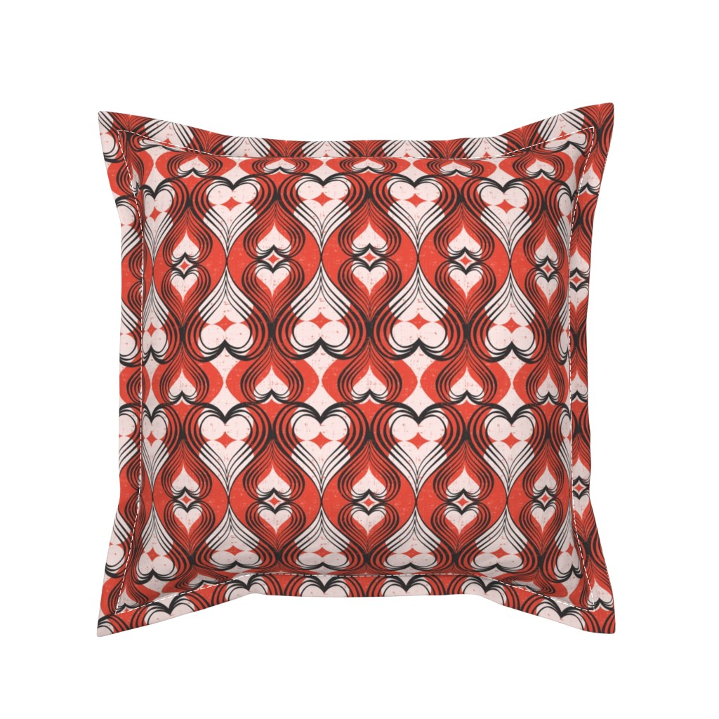 Serama Throw Pillow featuring Be Still My Heart - Red by heatherdutton