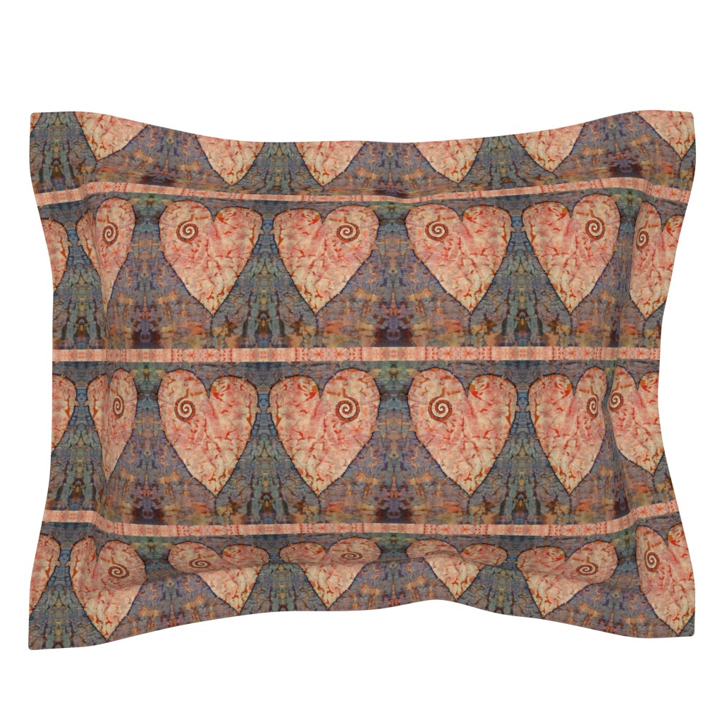 Sebright Pillow Sham featuring From The Heart (medium) by lynda_hoffman-snodgrass_